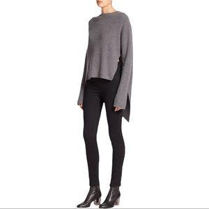 Brochu Walker Wool Thandee Ribbed Asymmetrical Hem Sweater Size Small